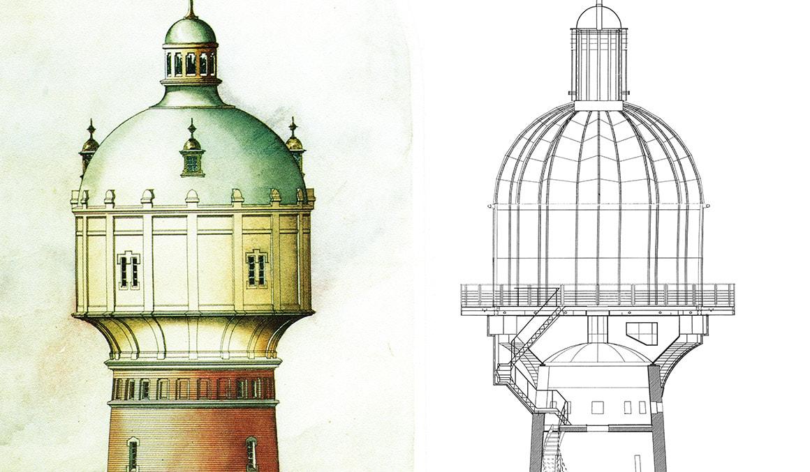 Vom Wasserturm zum Lichtturm